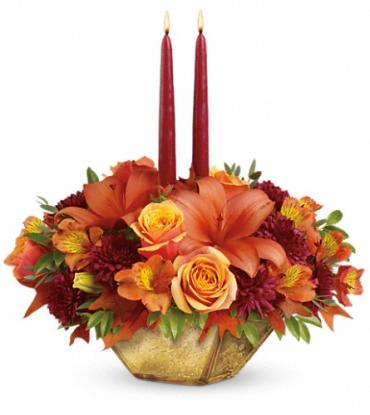 Teleflora\'s Harvest Gold Centerpiece