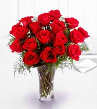 Premium 18 Short Stemmed Red Roses Bouquet