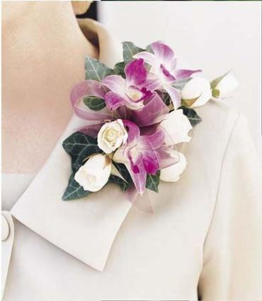 Spray Rose and Dendrobium Corsage
